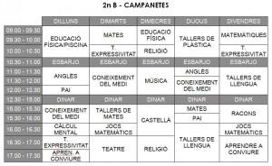 Horari Campanetes - 2n B