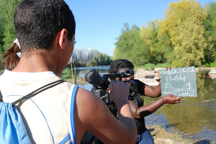 cinema en curs rodatge del film final a l'Escola Comtes de Torregrossa (Alcarràs)