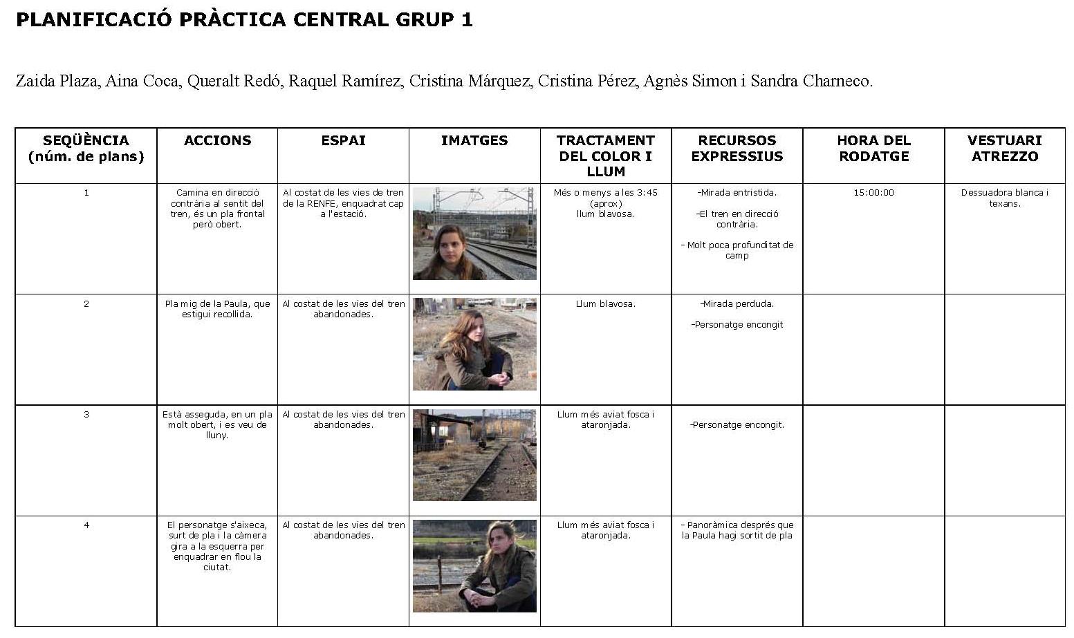 Planificació Grup 1