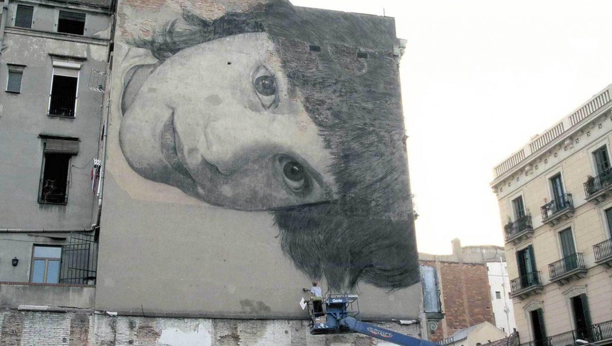 Creació de graffitis a l'Institut Consell de Cent