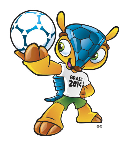 Undated handout image of the official 2014 World Cup mascot, the Brazilian three-banded armadillo (the Tolypeutes tricinctus)