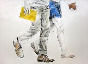 Il.lustració de Juliano lopes Font:http://bibliocolors.blogspot.com.es/2014/02/lectors-anonims-illustracions-de.html