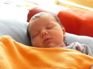 La Carlota dormint
