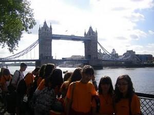 Alumnat de l'Ins Alexandre Deulofeu en el seu viatge a Gran Bretanya 2010