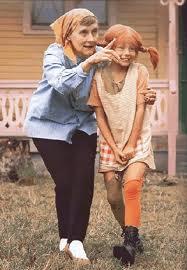 Astrid Lingren amb la Pippi televisiva