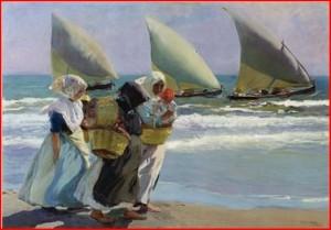Sorolla pinta el Mediterrani