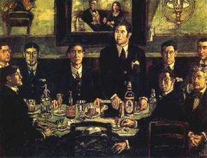 José Gutiérrez Solana (1920) La tertulia en el Café Pombo