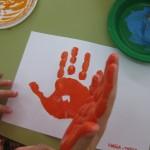 Estampació amb pintura de dits