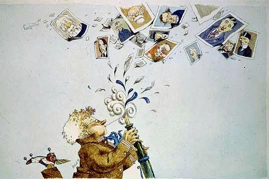 Tullio Pericoli_caricaturas escritores