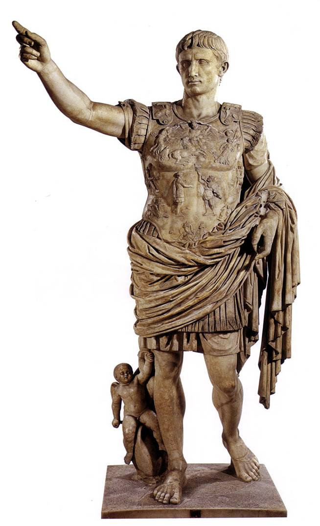 August de Prima Porta, escultura que representa el poder d'Octavi August