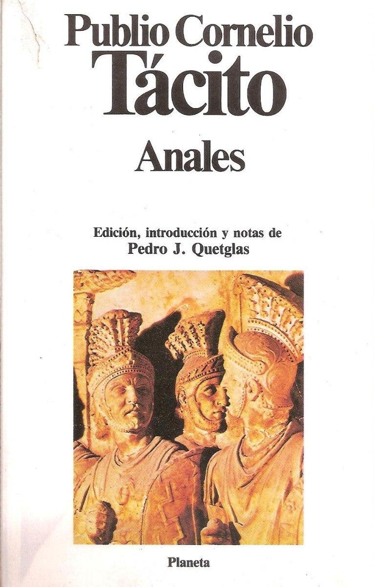 Portada del llibre de Tàcit, Anales