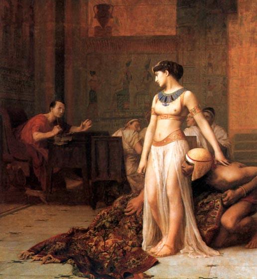 Imatge sobre Juli Cèsar i Cleòpatra a Egipte