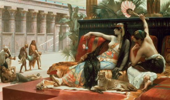 Quadre sobre Cleòpatra. Es mostra una dona seductora