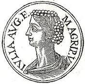 Moneda romana amb retrat de Júlia la Major