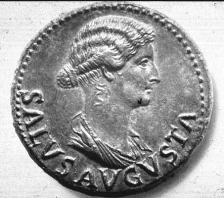 Moneda romana amb la figura de Lívia Drusil·la