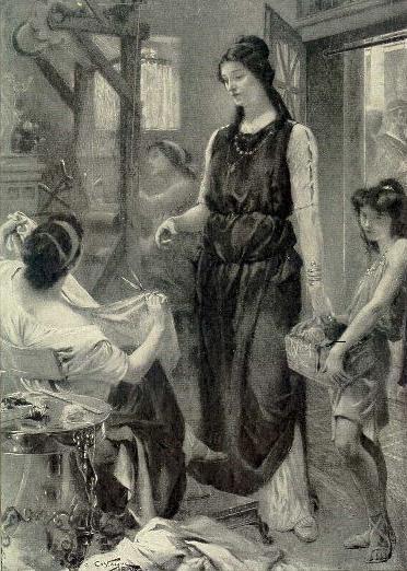Quadre on es mostra una Lívia jove, amb un cos gràcil i una bellesa inigualable