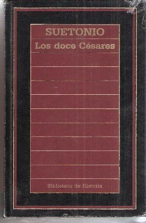 Portada del llibre Los doce Césares, de Suetoni