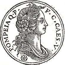 Moneda romana sobre Pompeia