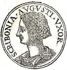 Moneda romana amb el retrat d'Escribònia