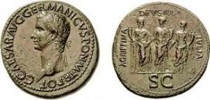 moneda hermanas de caligula