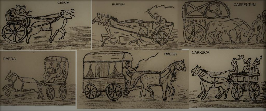Vehicles de transport terrestre romans