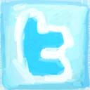 Logotip dibuixat a Twitter