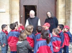 El monjo Marc ens ha rebut quan hem arribat