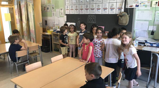 La classe de Van Gogh visita la Classe dels Cavalls Blaus