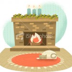 ist2_8039626-retro-fireplace-with-cat