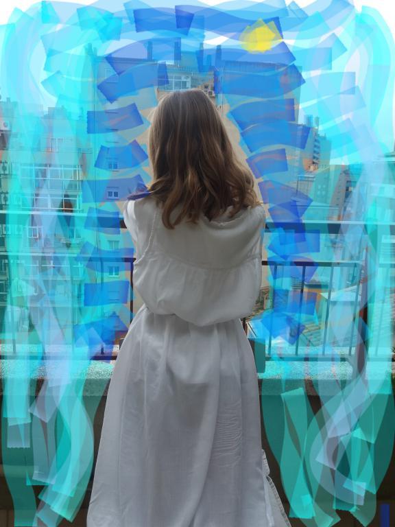 Noia  a la finestra IONA