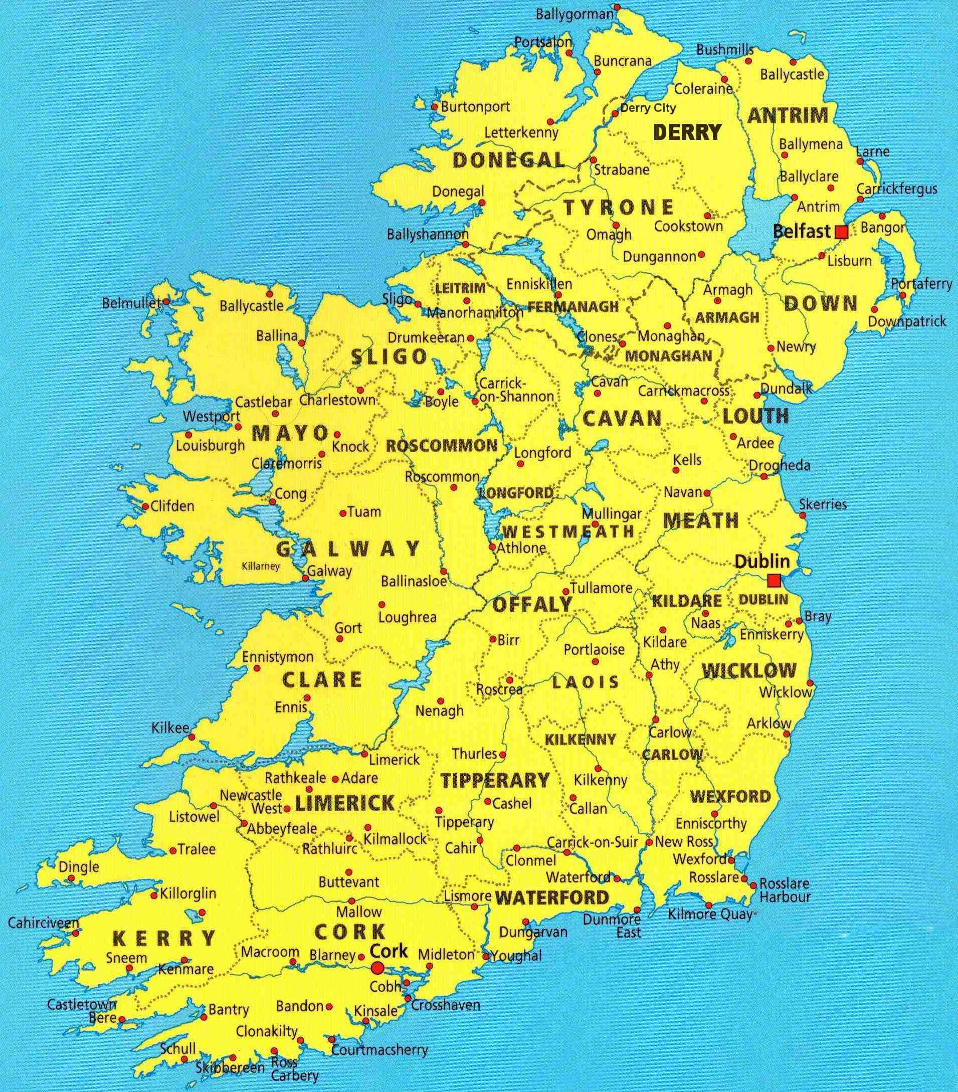 Mother Earth   Maps of Ireland