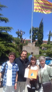 La Georgina amb els seus pares i el seu germà