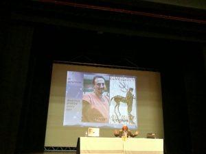 Bernardo Souvirón i la seva Odissea, amb la  diapositiva d'agraïment a Juanvi i a Chiron de @AracneFil. Gràcies a @Mertxu