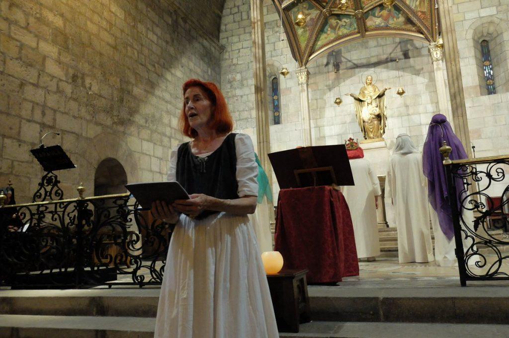 Catherine Schroeder ha interpretat el personatge de l'Ànima a Ordo Virtutum, 11 de febrer de 2017