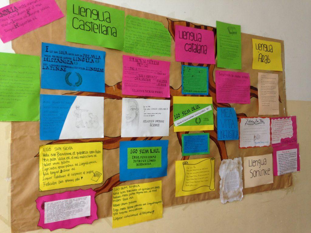 Mural IPM Dia de la Llengua Materna. Alumnes de llatí en llatí