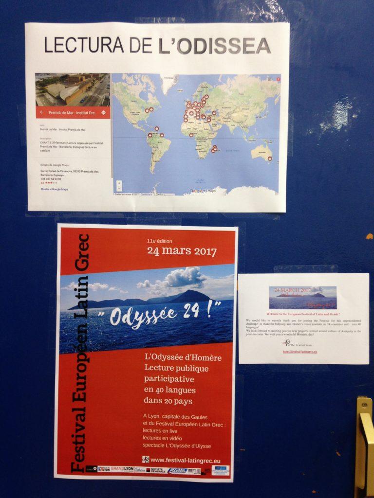 Alumnes de Grec de l'IPM anuncien la seva lectura en català del cant VI de L'Odissea