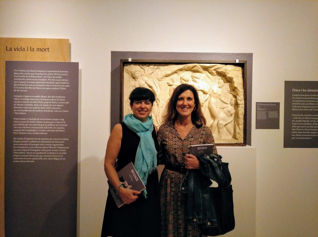 Amb Mireia Rosich a l'exposició Reflexos. L'obra de Damià Campeny
