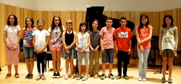 Tots els concursants del Premi Aula de Música Puig-Porret 2014