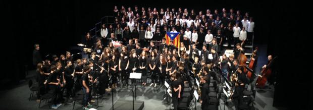Concert de Nadal 2013 amb la Banda i el Cor del Conservatori