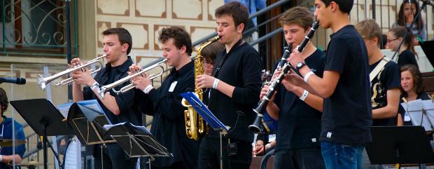 Alumnes de l'emvic al 17è Festival Jazz de Vic