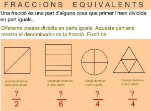 fraccions equivalents
