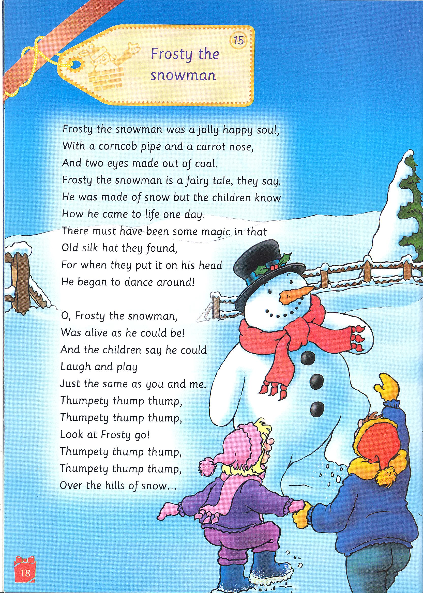 Frosty The Snowman Lyrics frosty the snowman quotes. quotesgram