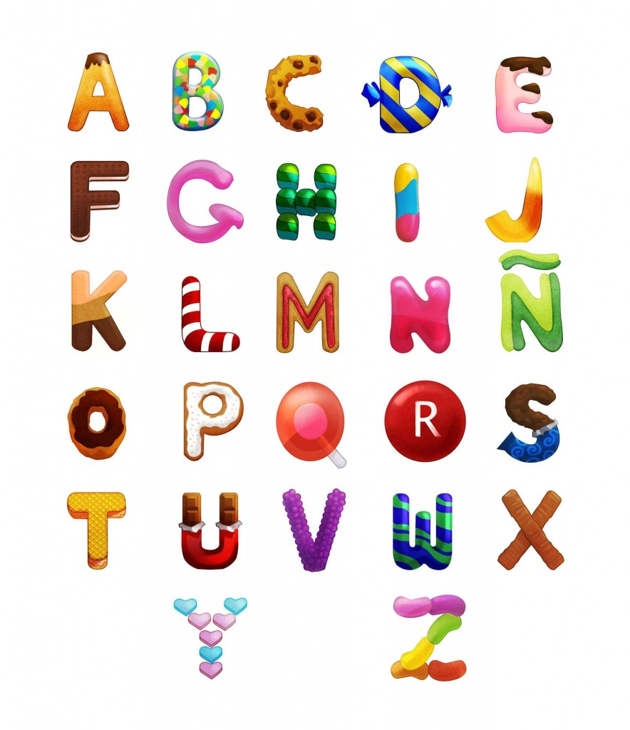 Candy-Alphabet-Art