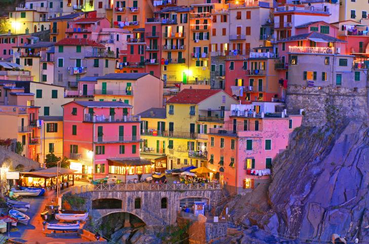 Blue hour at Manarola, Cinque Terre, Italy