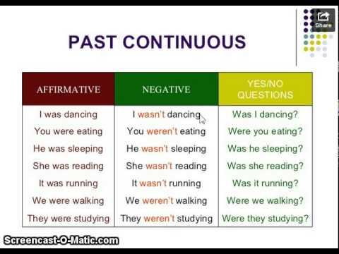 pastcontinuous
