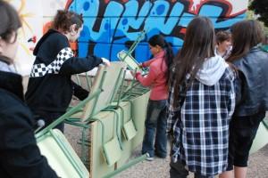 Graffitti. Assaig espais afegits. Margarita Andreu EN RESiDÈNCiA a l'Institut Vall d'Hebron. 15 de novembre de 2010