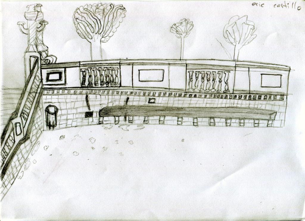 Dibuix d'Eric Castillo. Margarita Andreu EN RESiDÈNCiA a l'Institut Vall d'Hebron