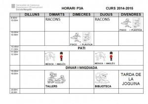 HORARI P3A 2014 15