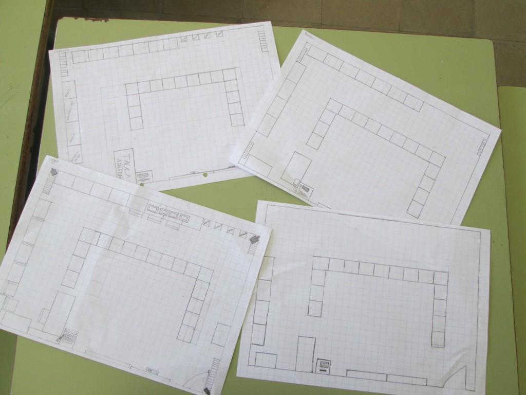 Avui hem dibuixat el plànol de la classe.