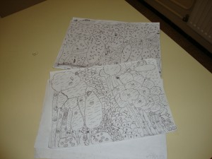 Drawings for the magazine.
